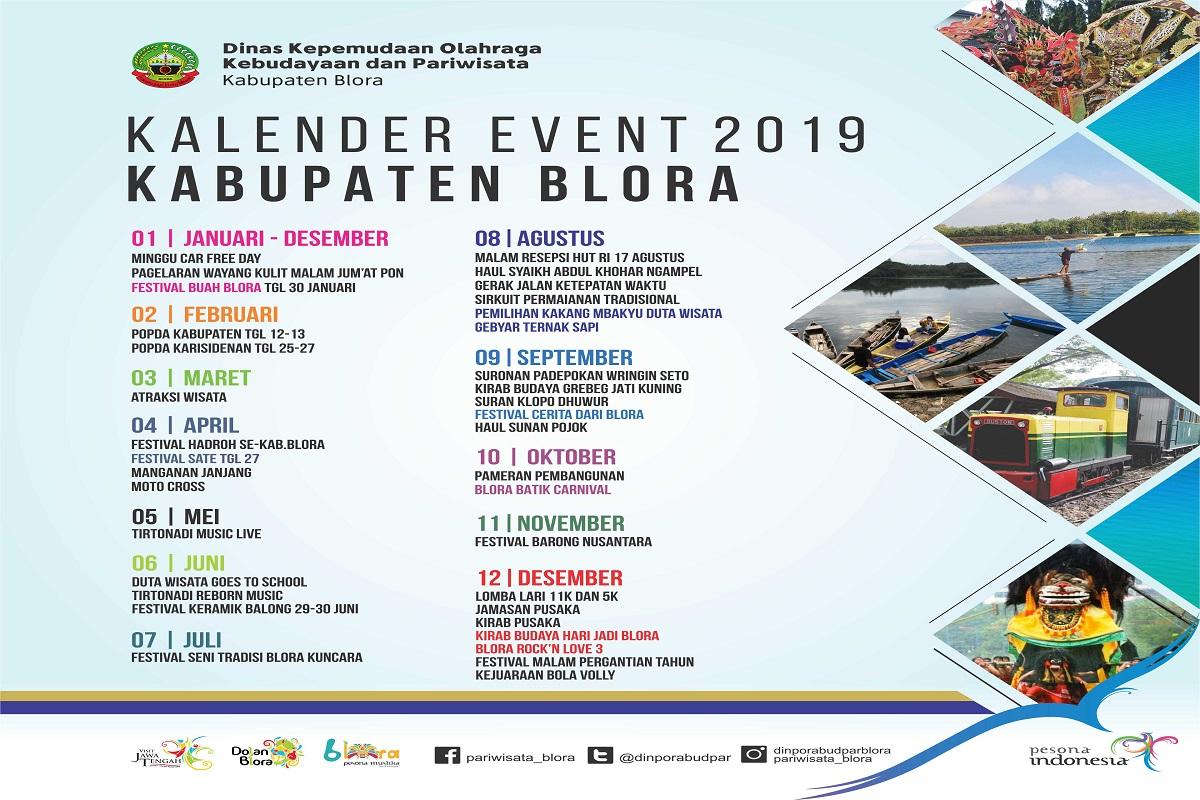 Kalender Event 2019 Kabupaten Blora